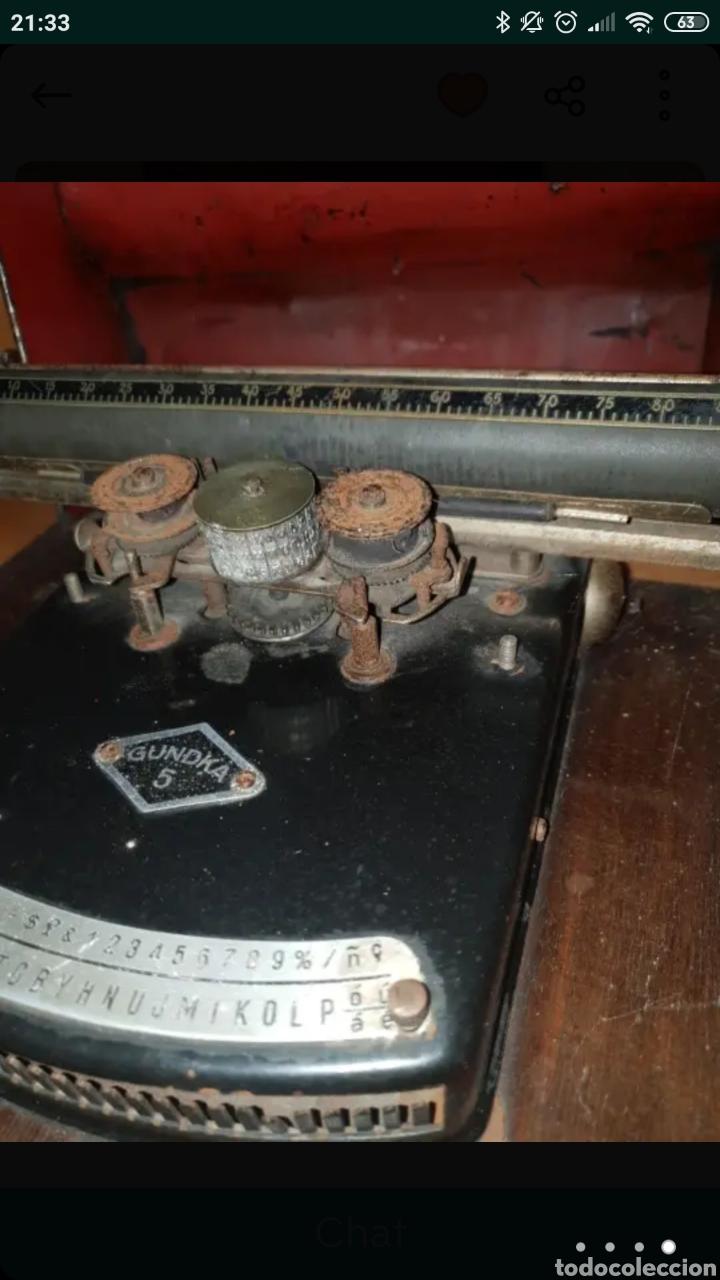 Antigüedades: Máquina de escribir GUNDKA - Foto 2 - 155695390