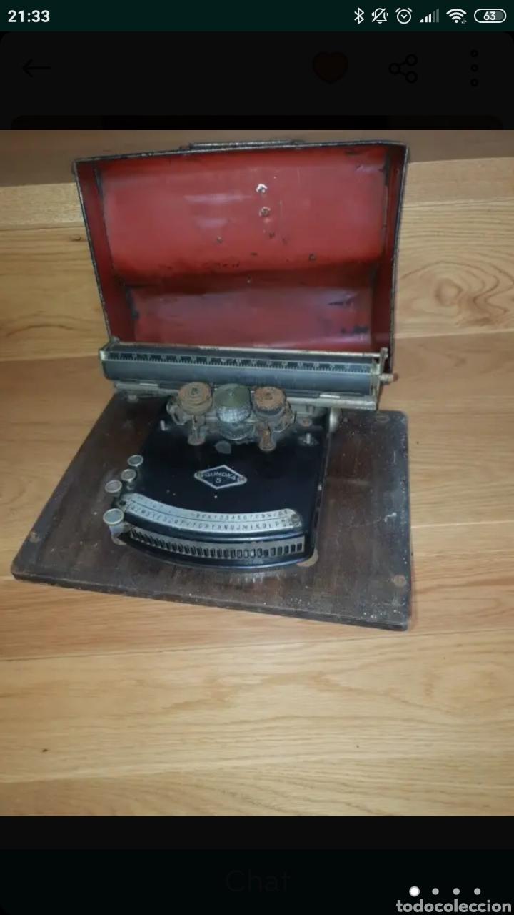 MÁQUINA DE ESCRIBIR GUNDKA (Antigüedades - Técnicas - Máquinas de Escribir Antiguas - Otras)