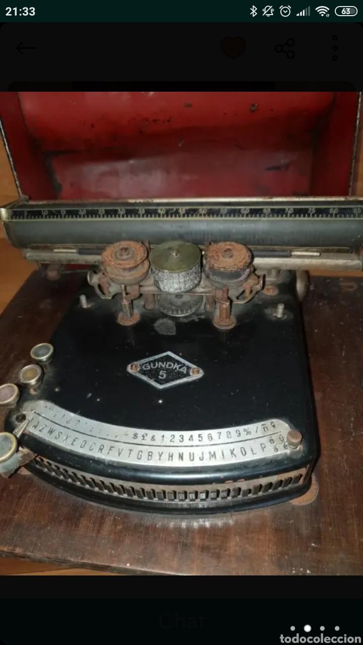 Antigüedades: Máquina de escribir GUNDKA - Foto 3 - 155695390