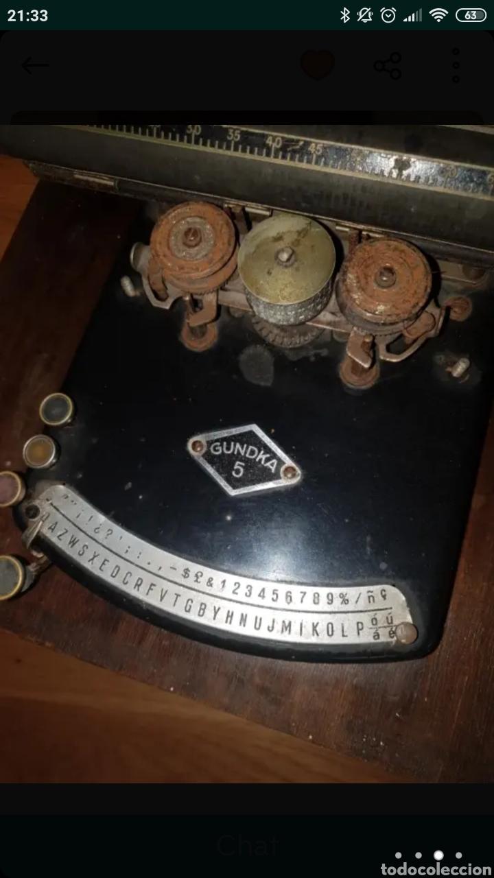 Antigüedades: Máquina de escribir GUNDKA - Foto 4 - 155695390