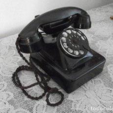 Teléfonos: TELÉFONO DE MESA SOBREMESA ALEMÁN ANTIGUO BAQUELITA DE DISCO AÑO FABRICACIÓN 1920 / 1930 Y FUNCIONA. Lote 155702538