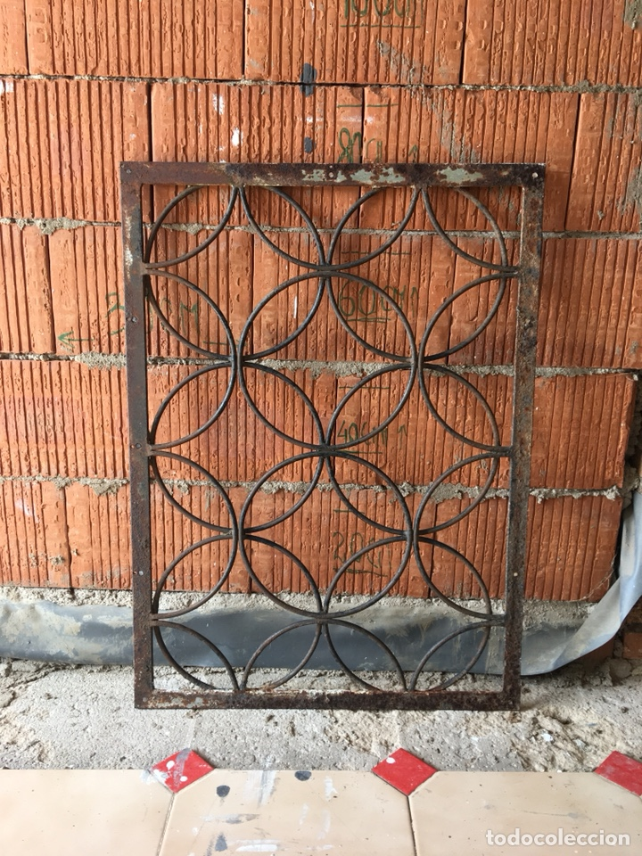 REJA DE HIERRO MUY DECORATIVA -(19070) (Antiques - Technical - Locksmith and Forge - Various Locksmith and Forge)
