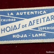 Antigüedades: HOJA DE AFEITAR LA AUTENTICA. Lote 155712686
