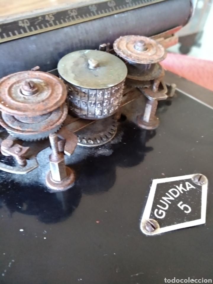 Antigüedades: Máquina de escribir GUNDKA - Foto 7 - 155695390