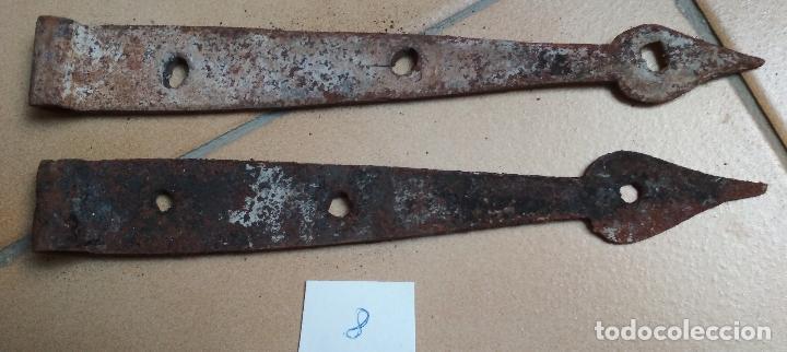 LOTE 2 BISAGRAS (Antigüedades - Técnicas - Cerrajería y Forja - Bisagras Antiguas)