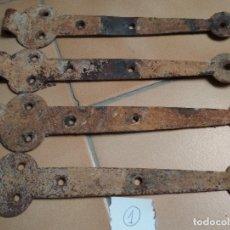 Antigüedades: LOTE 4 BISAGRAS. Lote 155819506