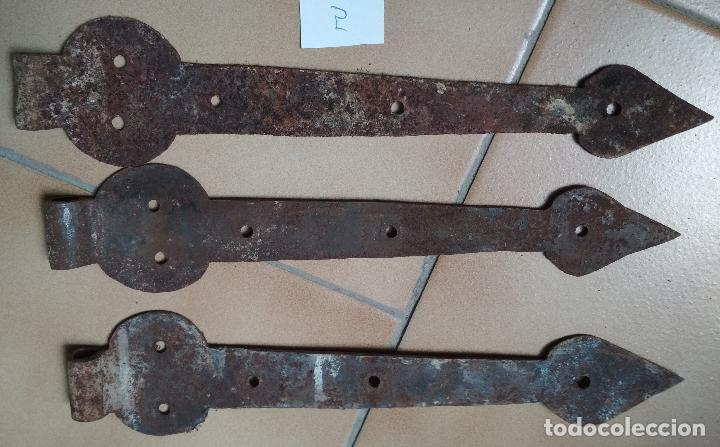 LOTE 3 BISAGRAS (Antigüedades - Técnicas - Cerrajería y Forja - Bisagras Antiguas)