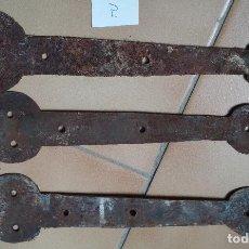 Antigüedades: LOTE 3 BISAGRAS. Lote 210116488