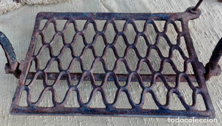 Antigüedades: patas de hierro fundido, maquina de coser singer, ideal para mesa, sin defectos - Foto 5 - 159441614