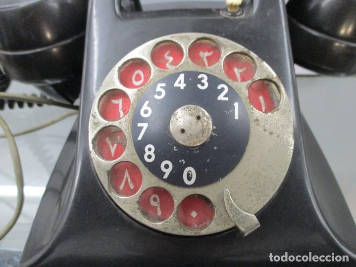 Teléfonos: EXtraordinario TELEFONO DE BAQUELITA - CON DOBLE NUMERACION - Foto 2 - 158910260