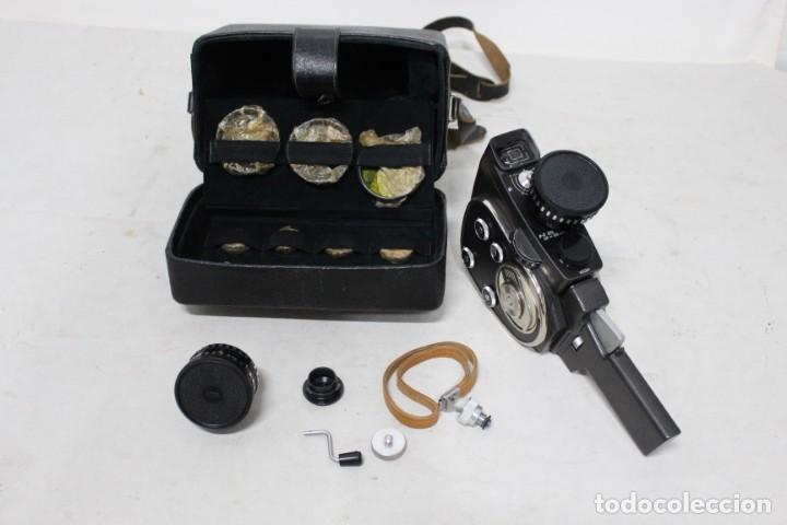 CAMARA DE 8 MM KBAPU + MALETIN CON ACCESORIOS. RUSIA, AÑOS 60. COMO NUEVA (Antigüedades - Técnicas - Aparatos de Cine Antiguo - Cámaras de Super 8 mm Antiguas)