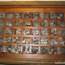 Antigüedades: IMPRENTA, LETRAS DE PLOMO, 14 FUTURA CURSIVA NEGRA, CAJA 40 APARTADOS. Lote 155968578