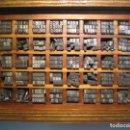 Antigüedades: IMPRENTA, LETRAS DE PLOMO, 12 FOLIO ANCHA, CAJA 40 APARTADOS. Lote 156035570