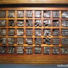 Antiquités: IMPRENTA, LETRAS DE PLOMO, 12 FOLIO ANCHA, CAJA 40 APARTADOS. Lote 224642373