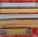 Antigüedades: COLECCIÓN DE 4 CINTAS MÉTRICAS. MADERA Y METAL. TELESCÓPICAS. SIGLO XX. . Lote 156174254