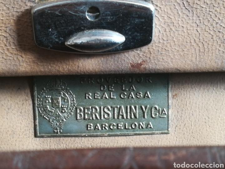 Antigüedades: Antigua Maleta Neceser Beristain y Cia Barcelona Proveedor de la Casa Real - Piel de cocodrilo - Foto 36 - 156271293