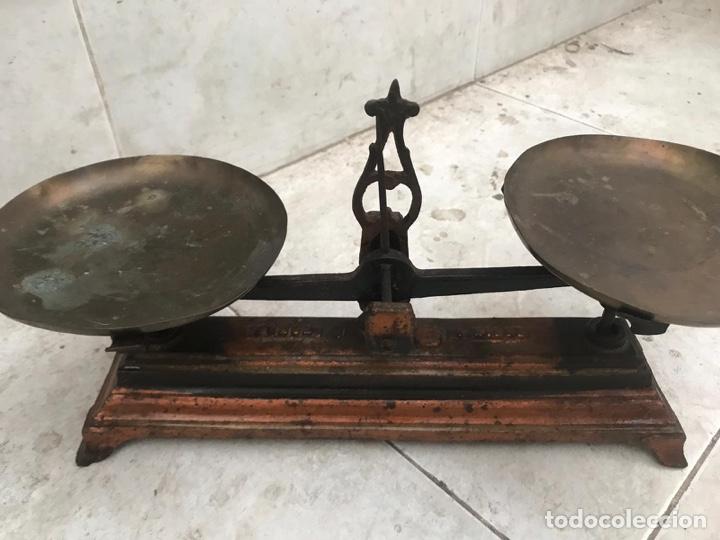 Antigüedades: Pequeña balanza de precisión force 1 Kg. - Foto 2 - 156275929