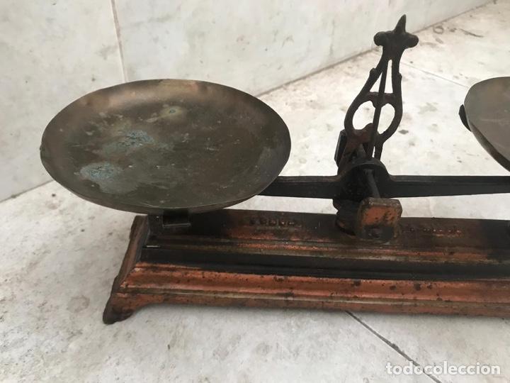 Antigüedades: Pequeña balanza de precisión force 1 Kg. - Foto 3 - 156275929