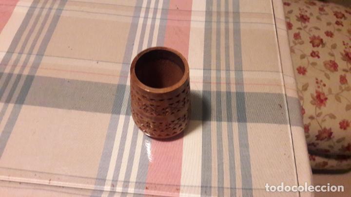 Antigüedades: Palillero de madera tallada - Foto 2 - 156314102