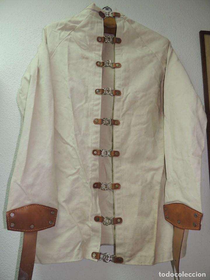 Antiquitäten: Antigua Camisa de fuerzas Medica de Psiquiatría Excelente Pieza de Colección Muy Rara - Foto 3 - 156434654