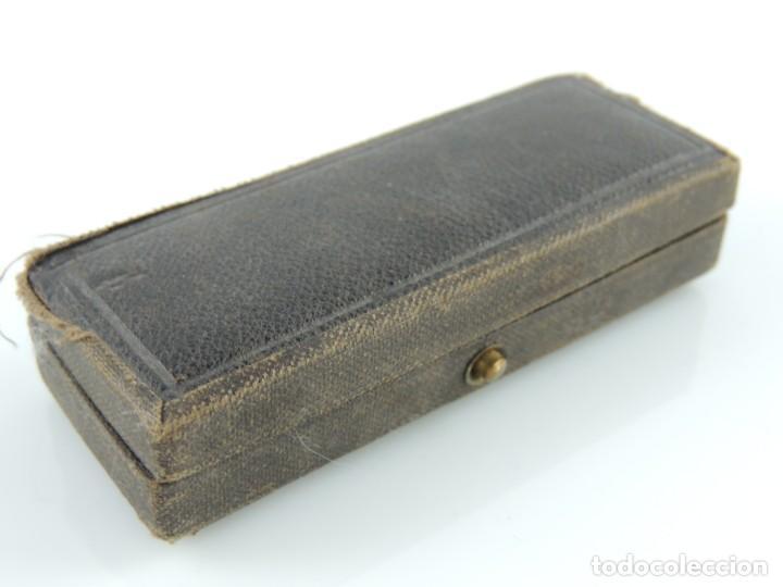 Antigüedades: Antigua Jeringa hipodérmica suiza con su caja original Excelente Pieza de Colección - Foto 14 - 156435886