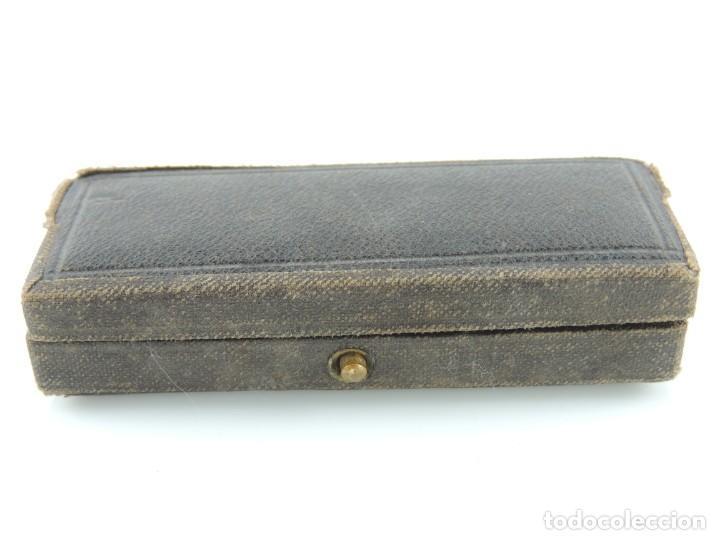 Antigüedades: Antigua Jeringa hipodérmica suiza con su caja original Excelente Pieza de Colección - Foto 15 - 156435886