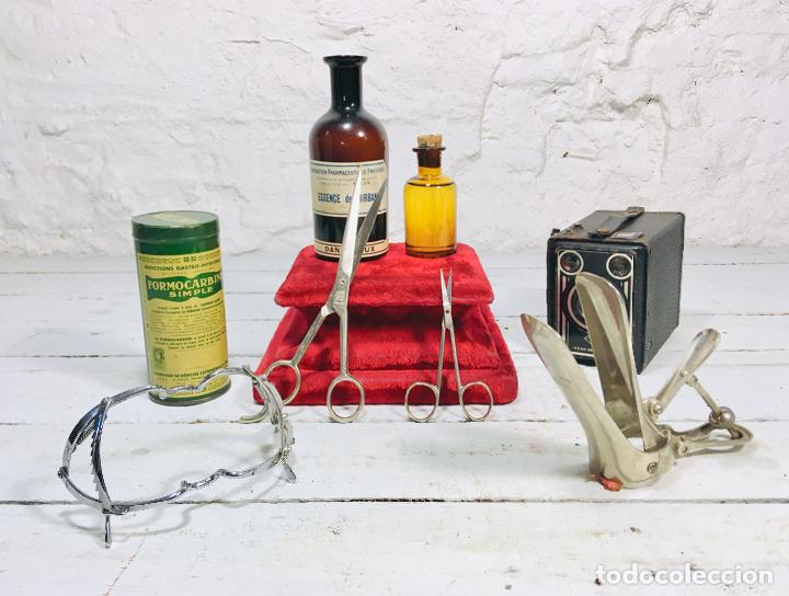 Antigüedades: INSTRUMENTO MEDICO DE HIERRO CROMADO MARTIN APARATO ARTICULADO GINECOLOGO STEAMPUNK DECOR - Foto 10 - 156451258