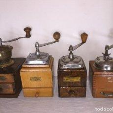 Antigüedades: 4 MOLINO MOLINILLO DE CAFE DE LA FIRMAS ALEMANAS, JAVA, HAHA HARHAUS, SPECIAL.. Lote 156518082