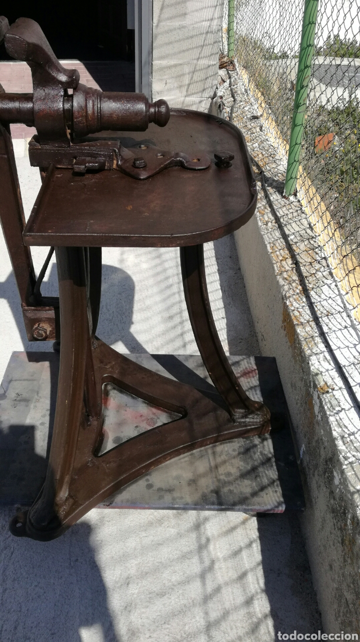 Antigüedades: Tornillo de fragua de hierro antiguo - Foto 5 - 156601808