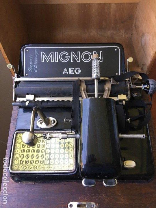 MIGNON AEG (Antigüedades - Técnicas - Máquinas de Escribir Antiguas - Mignon)