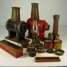 Antigüedades: PAREJA DE LINTERNAS MÁGICAS. Lote 156654414