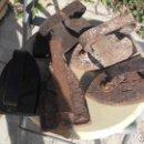 Antigüedades: CINCO PLANCHAS EN HIERRO. Lote 156659898