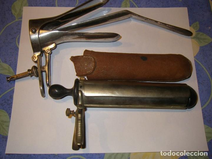 PAREJA DE ESPÉCULOS VAGINALES. SIGLOS XVIII- XIX Y EL SEGUNDO DEL XX. (Antigüedades - Técnicas - Herramientas Profesionales - Medicina)