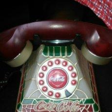 Teléfonos: 390€!! ANTIGUO TELÉFONO COCA-COLA.UNA JOYA!!TIPO TIFANNY. CON LUZ AL DESCOLGAR.EXCELENTE.. Lote 156704154