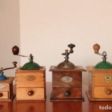 Antigüedades: LOTE 4 MOLINILLOS DE CAFE . Lote 156716306