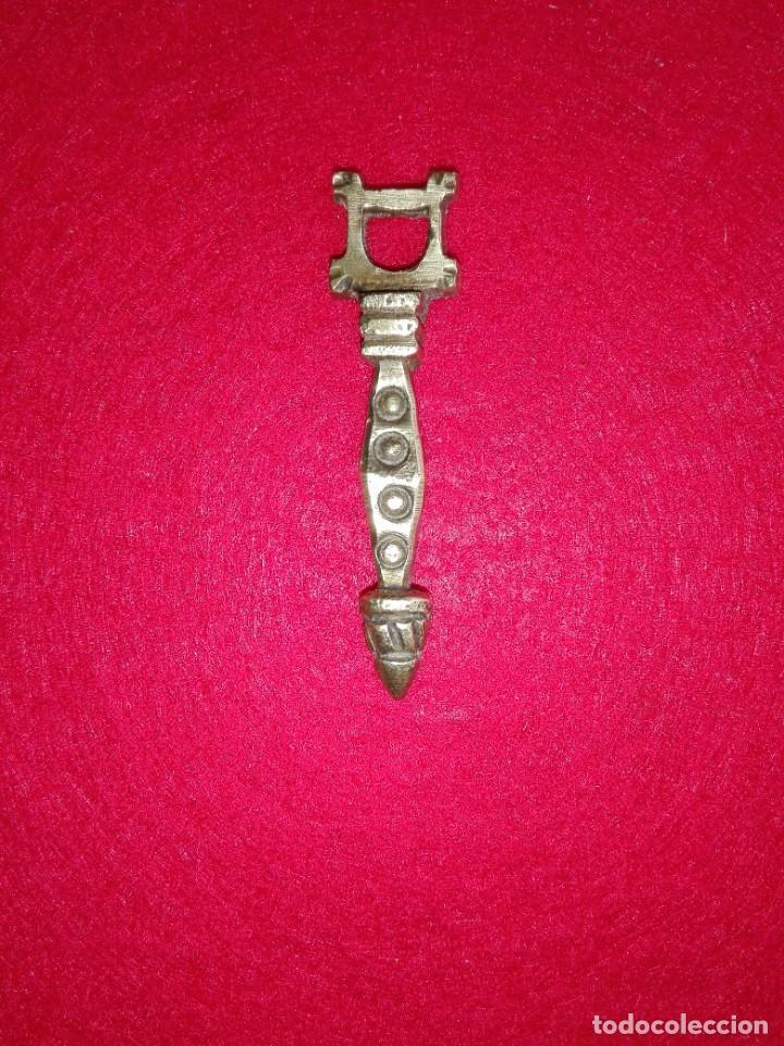 TIRADOR BRONCE DORADO (Antigüedades - Técnicas - Cerrajería y Forja - Tiradores Antiguos)