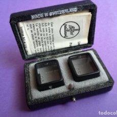 Antiquités: PAREJA DE LENTES PARA CAMARAS DE CINE PAILLARD BOLEX.. Lote 157120226