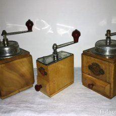 Antigüedades: 3 MOLINO MOLINILLO DE CAFE DE LA FIRMA ALEMANA BURG-MÜHLE MHS, BKF.. Lote 157140470