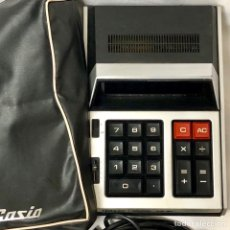 Antigüedades: CALCULADORA CASIO AS-8A 1971 FUNCIONA RETRO VINTAGE FUNDA ORIGINAL CABLE AS 8A. Lote 157169740