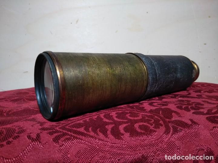 Antigüedades: ANTIGUO CATALEJO FINALES SIGLO XIX DE CINCO TRAMOS DE 91 CENTIMETROS DE LONGITUD - Foto 2 - 157232906