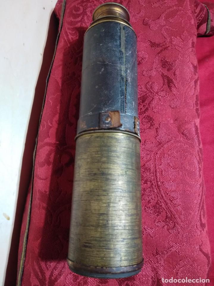 Antigüedades: ANTIGUO CATALEJO FINALES SIGLO XIX DE CINCO TRAMOS DE 91 CENTIMETROS DE LONGITUD - Foto 4 - 157232906