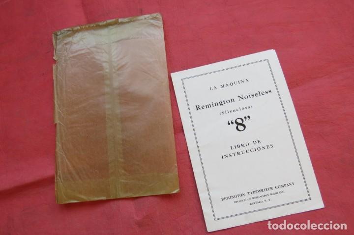 LIBRO INSTRUCCIONES MAQUINA ESCRIBIR REMINGTON NOISELESS 8 - CASTELLANO - NEW YORK - AÑOS 20 (Antigüedades - Técnicas - Máquinas de Escribir Antiguas - Remington)