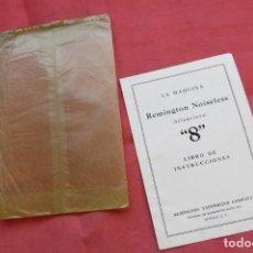 Antigüedades: LIBRO INSTRUCCIONES MAQUINA ESCRIBIR REMINGTON NOISELESS 8 - CASTELLANO - NEW YORK - AÑOS 20. Lote 157250966