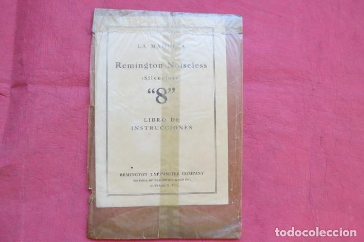 Antigüedades: LIBRO INSTRUCCIONES MAQUINA ESCRIBIR REMINGTON NOISELESS 8 - CASTELLANO - NEW YORK - AÑOS 20 - Foto 3 - 157250966