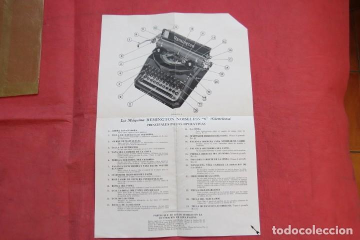 Antigüedades: LIBRO INSTRUCCIONES MAQUINA ESCRIBIR REMINGTON NOISELESS 8 - CASTELLANO - NEW YORK - AÑOS 20 - Foto 5 - 157250966