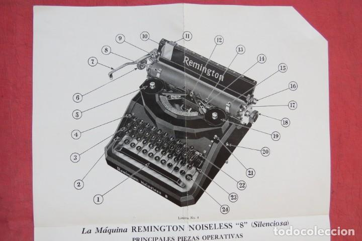 Antigüedades: LIBRO INSTRUCCIONES MAQUINA ESCRIBIR REMINGTON NOISELESS 8 - CASTELLANO - NEW YORK - AÑOS 20 - Foto 6 - 157250966