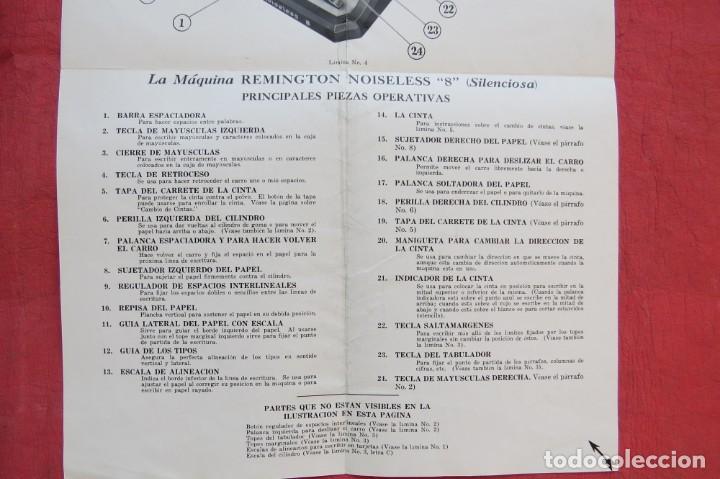 Antigüedades: LIBRO INSTRUCCIONES MAQUINA ESCRIBIR REMINGTON NOISELESS 8 - CASTELLANO - NEW YORK - AÑOS 20 - Foto 7 - 157250966