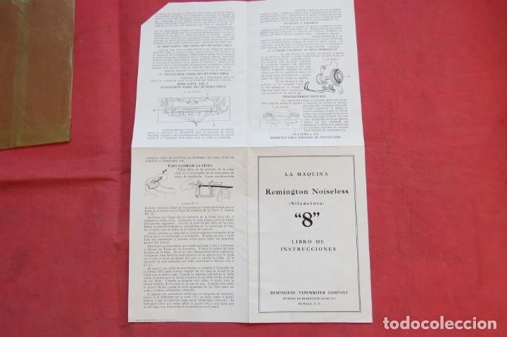 Antigüedades: LIBRO INSTRUCCIONES MAQUINA ESCRIBIR REMINGTON NOISELESS 8 - CASTELLANO - NEW YORK - AÑOS 20 - Foto 8 - 157250966