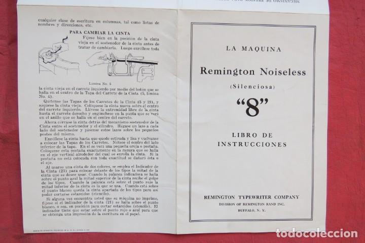 Antigüedades: LIBRO INSTRUCCIONES MAQUINA ESCRIBIR REMINGTON NOISELESS 8 - CASTELLANO - NEW YORK - AÑOS 20 - Foto 9 - 157250966