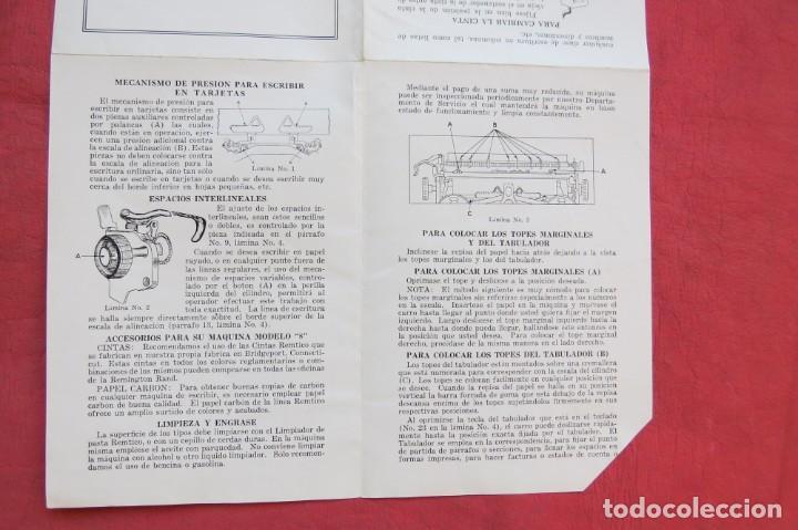 Antigüedades: LIBRO INSTRUCCIONES MAQUINA ESCRIBIR REMINGTON NOISELESS 8 - CASTELLANO - NEW YORK - AÑOS 20 - Foto 10 - 157250966
